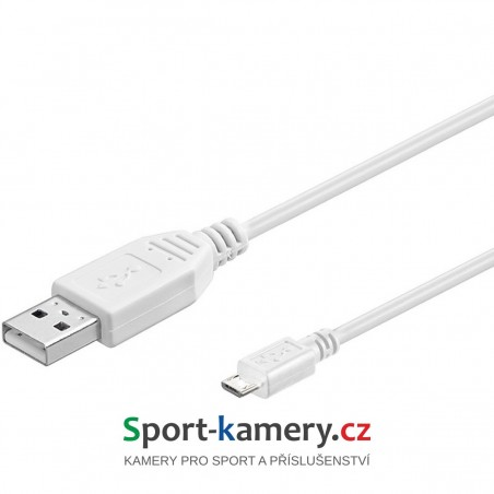 Kabel USB micro B 1m | WHITE