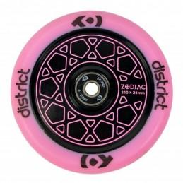Kolečko DISTRICT Zodiac 110mm | 86A | ABEC-9 | BLACK - PINK