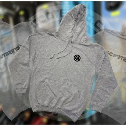 Mikina SCOOTERING Long Hoodie s kapucí | HEATHER GREY