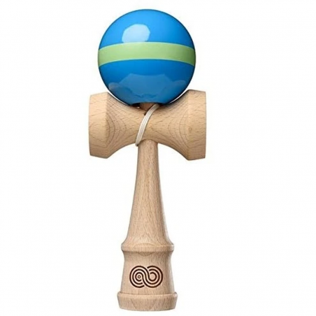 Kendama KENDAMA USA Kaizen Single Stripe | Gloss | AQUA-LIME GREEN