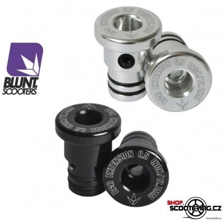 Rozšíření Řidítek BLUNT o 25mm Černá / Stříbrná (sada 2ks)