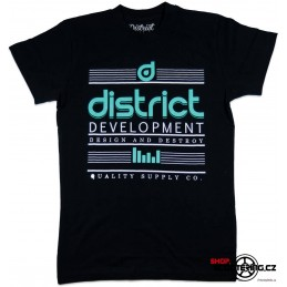Tričko DISTRICT T-Shirts   District Supply Co Destroy Black