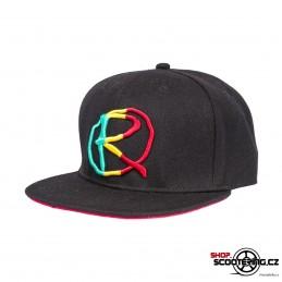Kšiltová čepice RAMPWORX Cap Black-Rasta Snapback