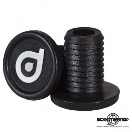Koncovky řidítek DISTRICT pro ocelová řidítka BLACK