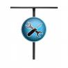 Zhotovení drážky do řidítek. Platí pro ocelové nebo hliníkové řidtíka a neplatí pro titanové řidítka. Do poznámky k objednávce napište požadovanou délku drážky 35-60mm, dle výšky objímky. Drážka se provádí na straně u jezdce - spoje objímky.