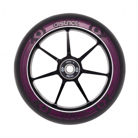 Kolečko DISTRICT Dual Width Core|120*24/28mm|88A|ABEC-9| BLACK-MAGENTA