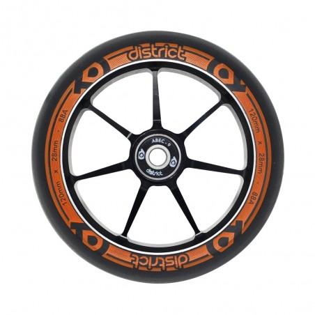 Kolečko DISTRICT Dual Width Core|110*24/28mm|88A|ABEC-9| BLACK-ORANGE