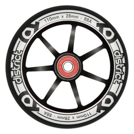 Kolečko DISTRICT LP Wide 120x24/28mm | 88A | ABEC-9 | BLACK