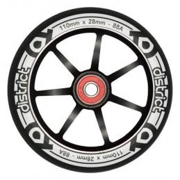 Kolečko DISTRICT LP Wide 110x24/28mm   88A   ABEC-9   BLACK