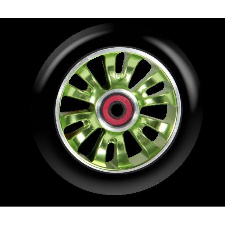 Kolečko MGP MADD GEAR Vicious 110mm Zelený střed/Černá guma (Black/Green)