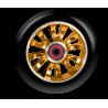 Kolečko MGP MADD GEAR Vicious 110mm Zlatý střed/Černá guma (Black/Orange)