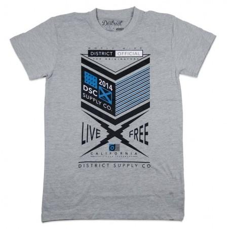 Tričko DISTRICT Supply Co Form| GREY-XL