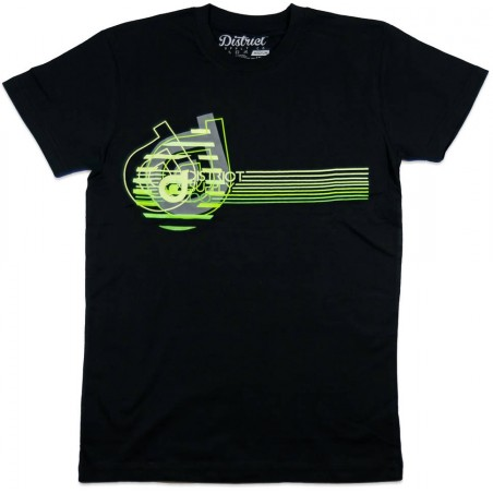 Tričko DISTRICT Supply Co Neon| BLACK-XL
