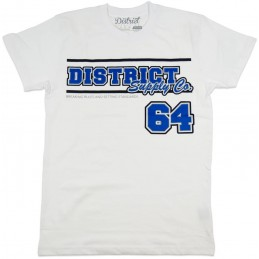Tričko DISTRICT Supply Co Team| WHITE-XL