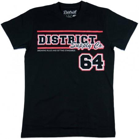Tričko DISTRICT Supply Co Team  BLACK-XL