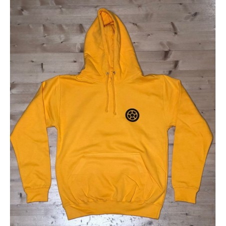 Mikina SCOOTERING Long Hoodie s kapucí | YELLOW GOLD