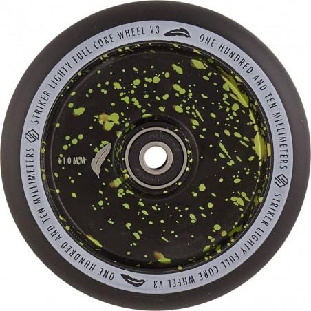 Kolečko STRIKER Lighty Full Core V3 110mm | 88A | ABEC-9 | BLACK-GREEN SPLASH