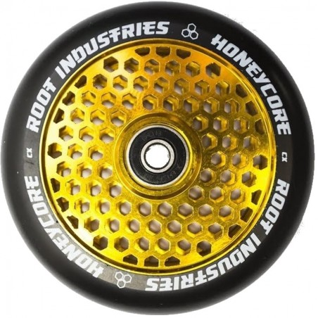 Kolečko ROOT HoneyCore 110mm | ABEC-11 | BLACK-GOLD RUSH